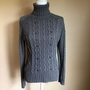 Relativity | Turtleneck Cable Knit Sweater  M